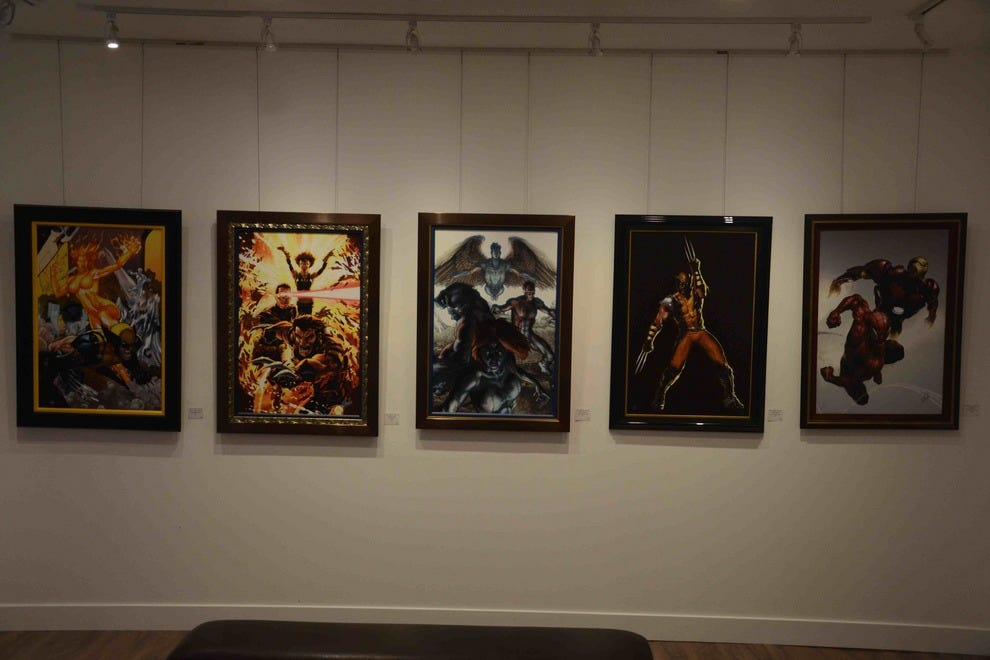 Stan Lee's Marvel Comics work, on display at the Qart.com Gallery