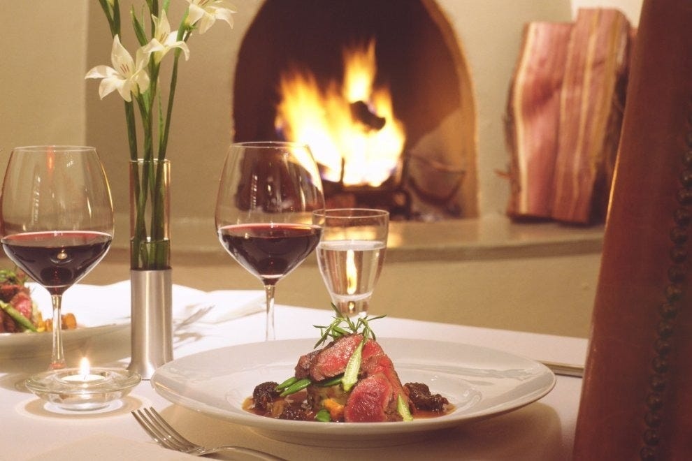 Tellicherry-rubbed Elk Tenderloin and a cozy fire at Geronimo
