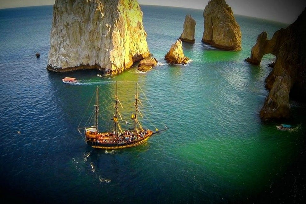 98-foot pirate replica ship Buccaneer Queen offers swashbuckling sunset and snorkel sails