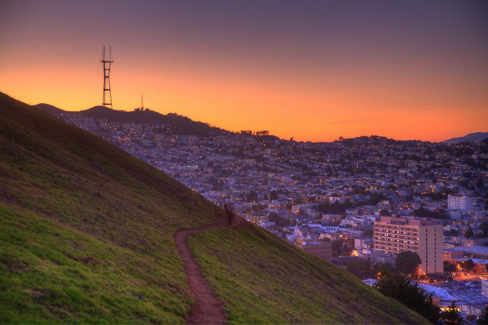 Sunset from Twin Peaks