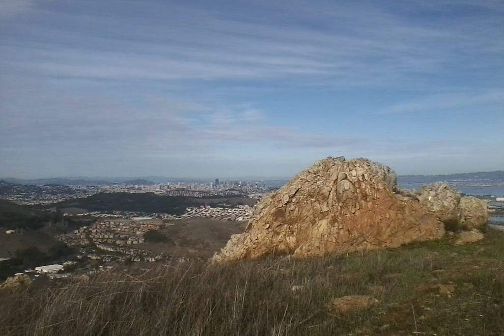 End of San Bruno Ridge Trail