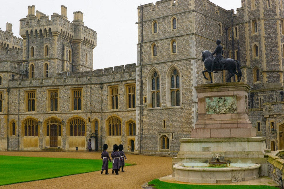 Windsor Castle is a quick cab ride from Oakley Court Hotel.