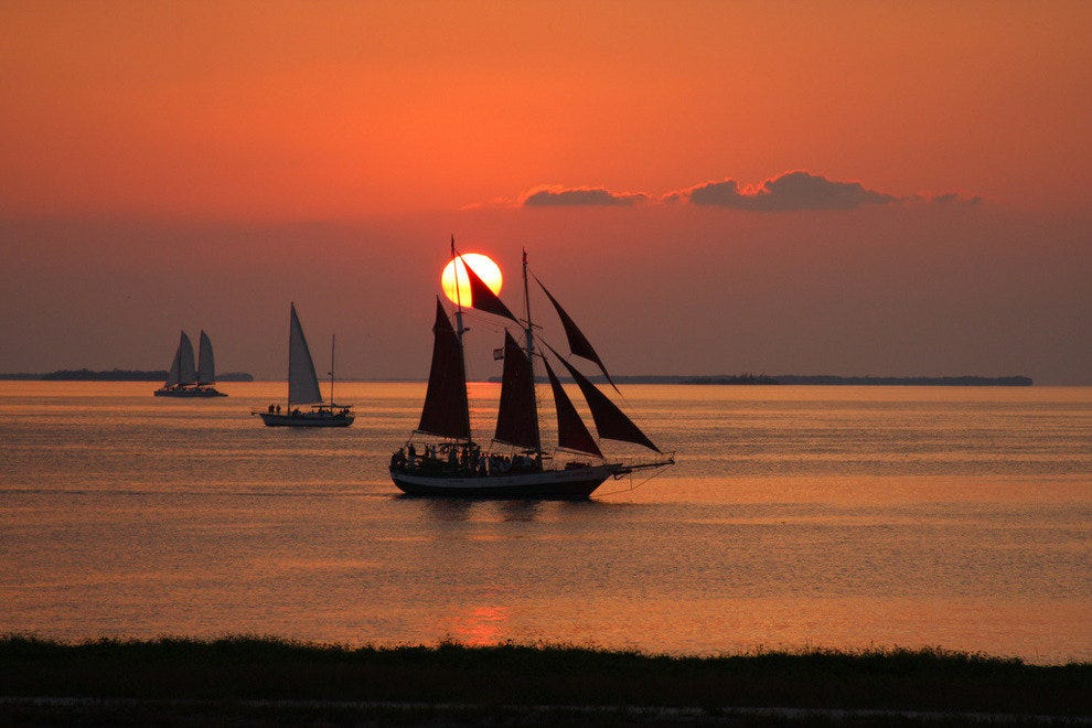 During a Sunset Sail - Captiva Island or Key West