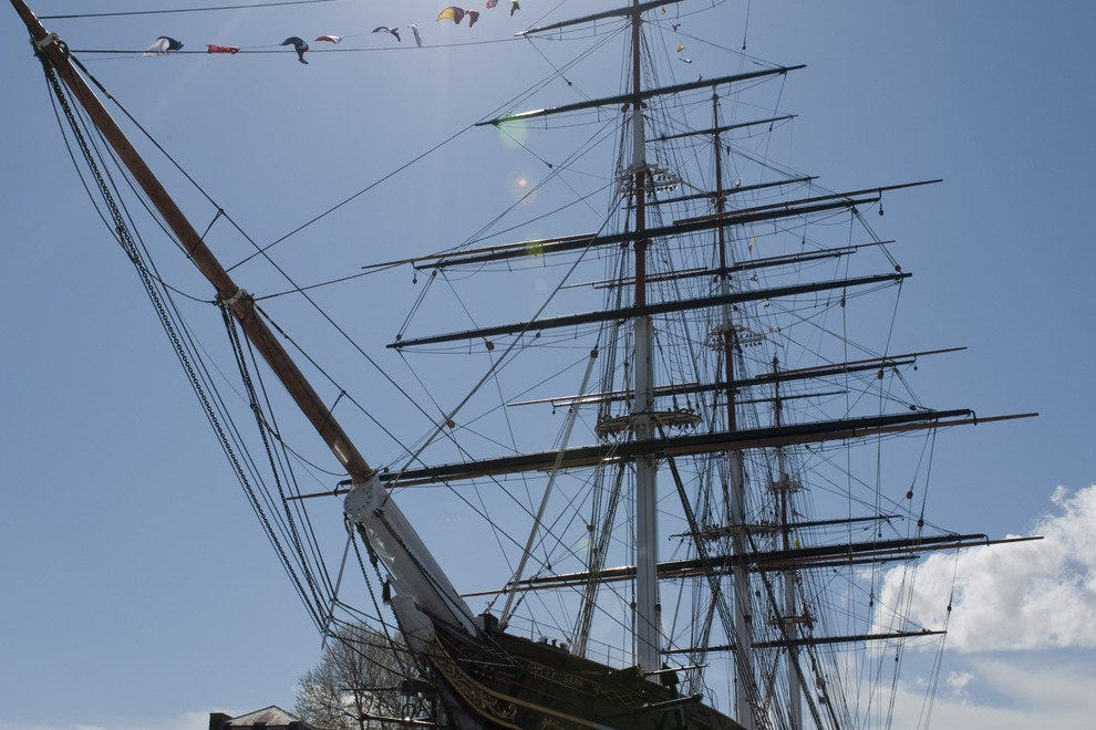 "The famous ""Cutty Sark"""