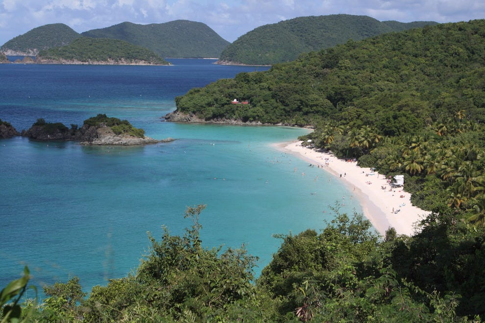 View of Trunk Bay from North Shore Drive.