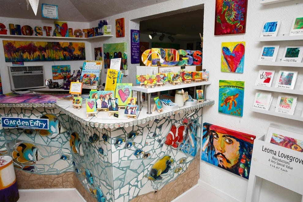 Lovegrove's Gallery is full of funky, colorful one-of-a-kind pieces