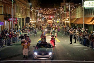 Ybor City Lights Up for the Sant' Yago Knight Parade
