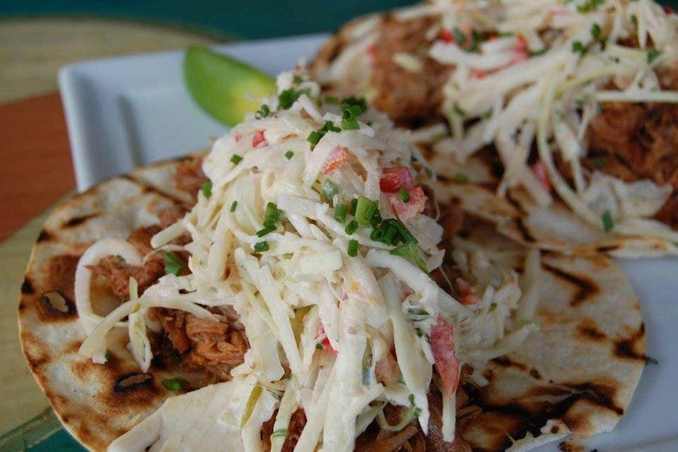 "The Pulled Pork Tacos at FUEL have been featured on ""Diners, Drive-Ins and Dives""!"