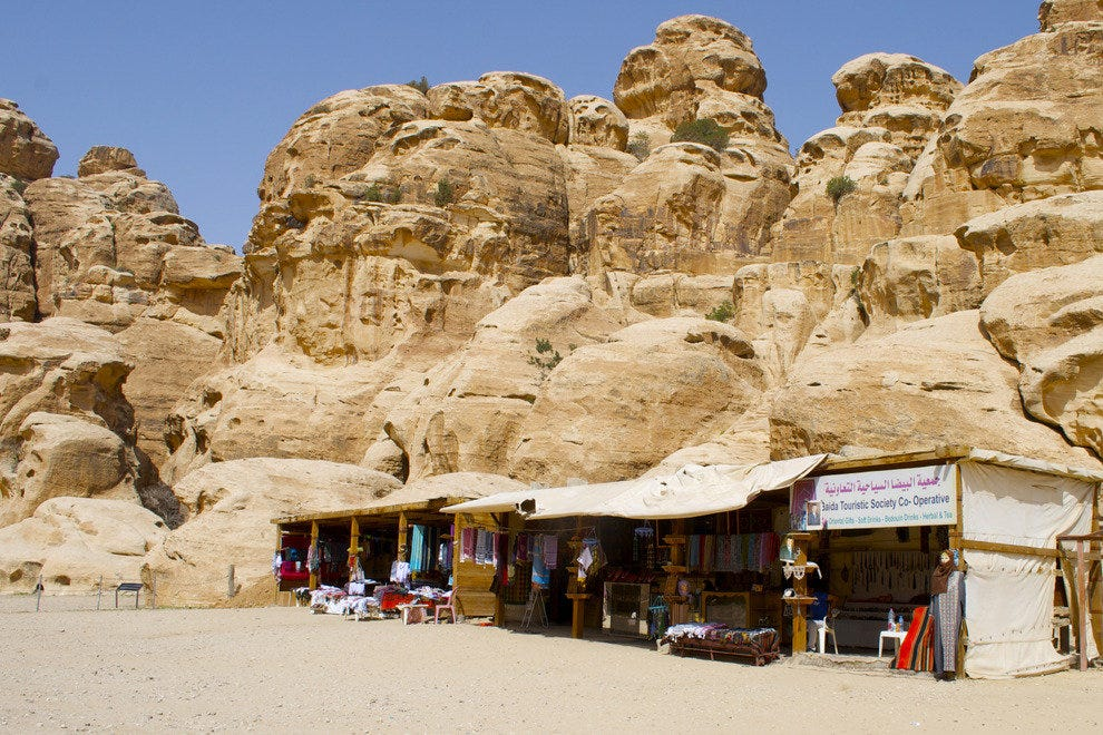 Stalls at Little Petra