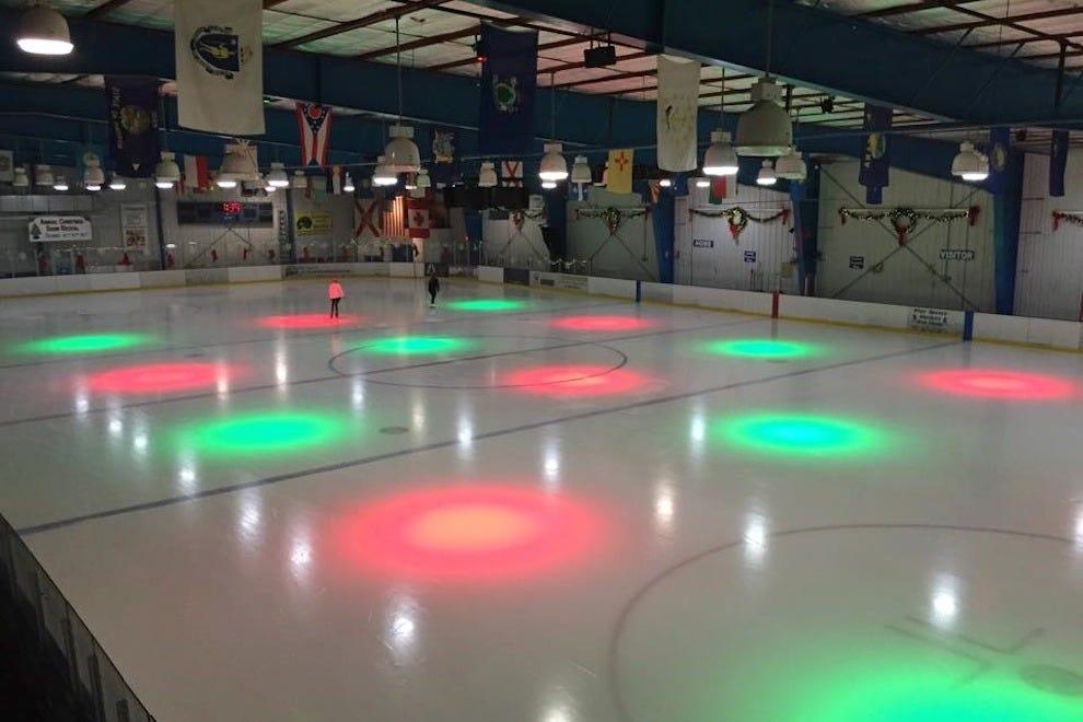 The Iceplex has club lighting for parties, DJ nights and special occasions