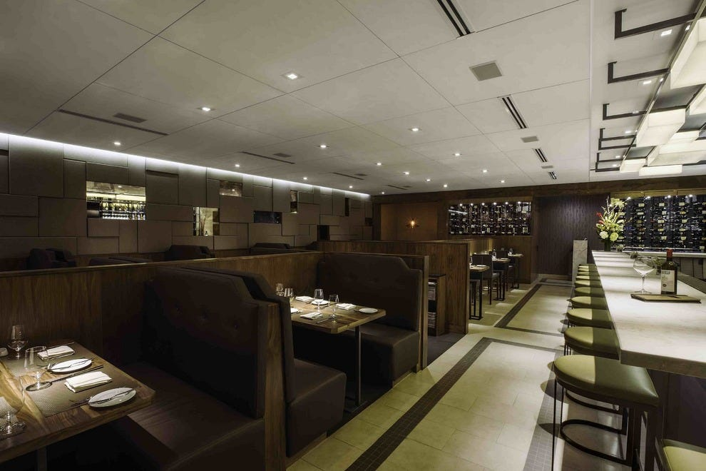 The inviting interior of Chianina Steakhouse