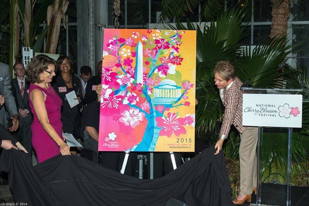 The official artwork for the 2015 National Cherry Blossom Festival is unveiled