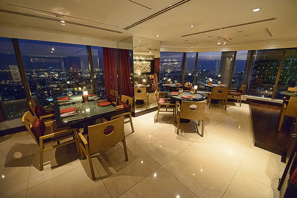 Incredible views at Saffron in Bangkok