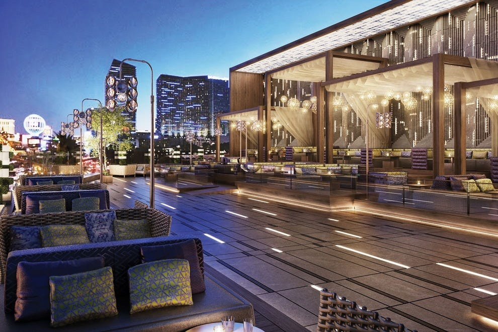 A rendering of the terrace at Omnia