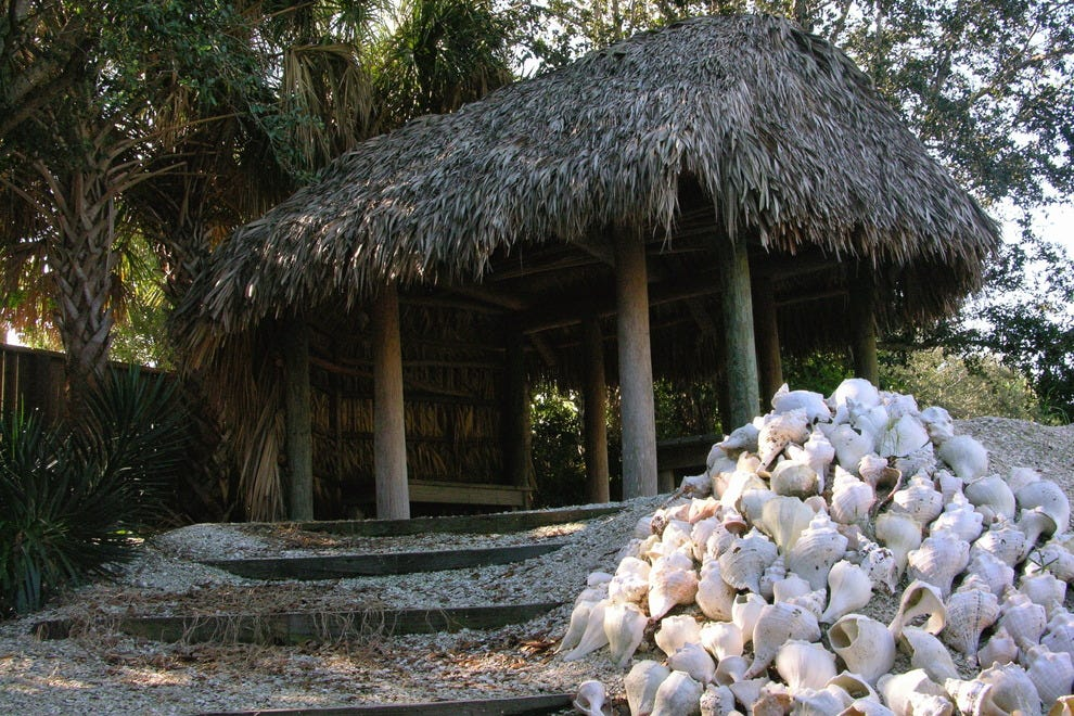 A recreated Seminole village is one highlight of the Collier County Museum