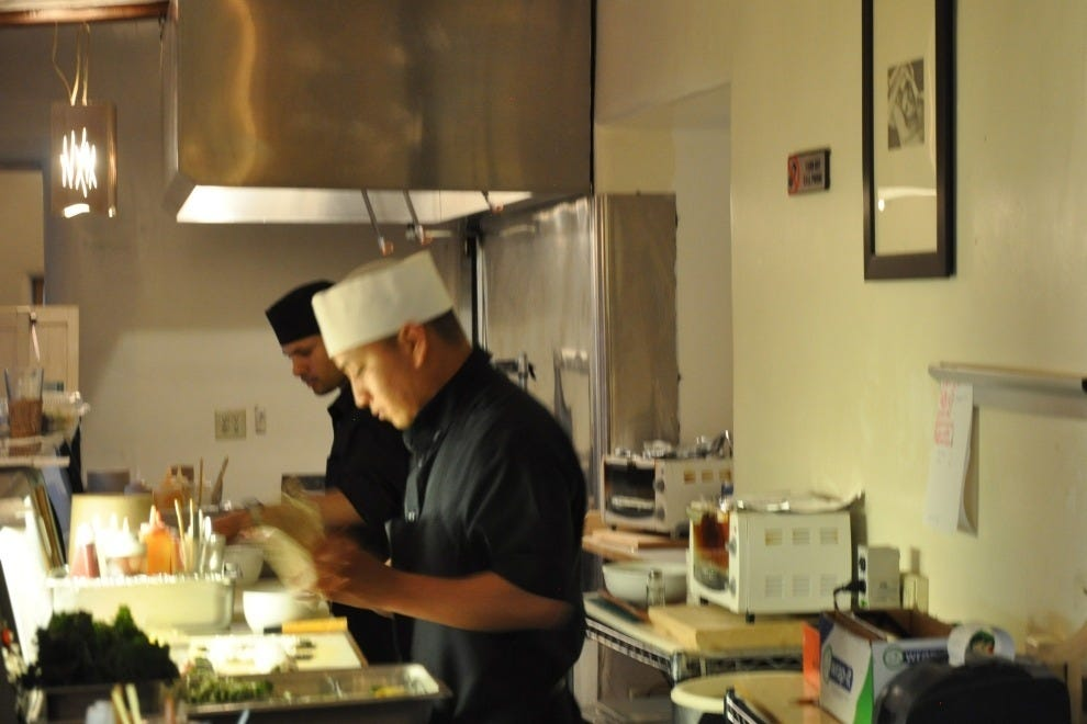 Sushi chefs at work at Shohko Cafe
