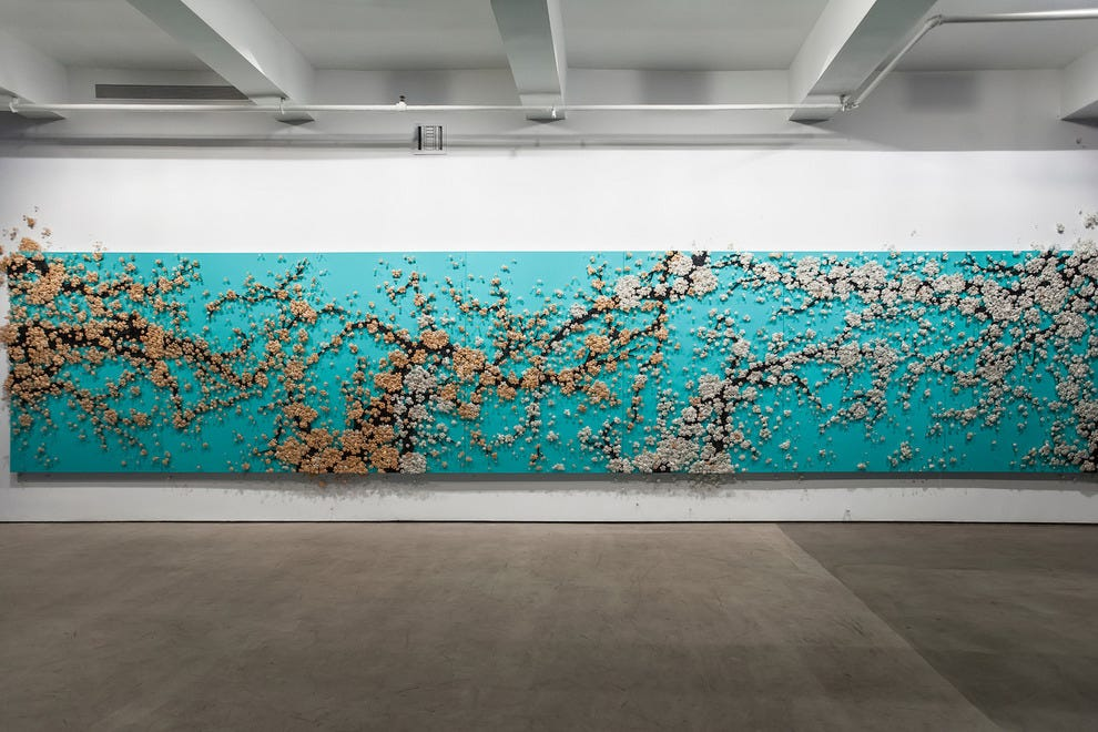 "New York-based Korean artist Ran Hwang's ""Healing Blossom"" is typical of the avant-garde exhibits at Art Central"