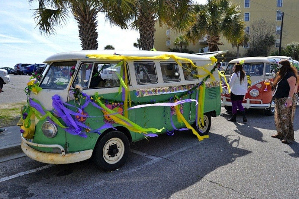 This FollyGras 2014 attendee even decorated their party van!