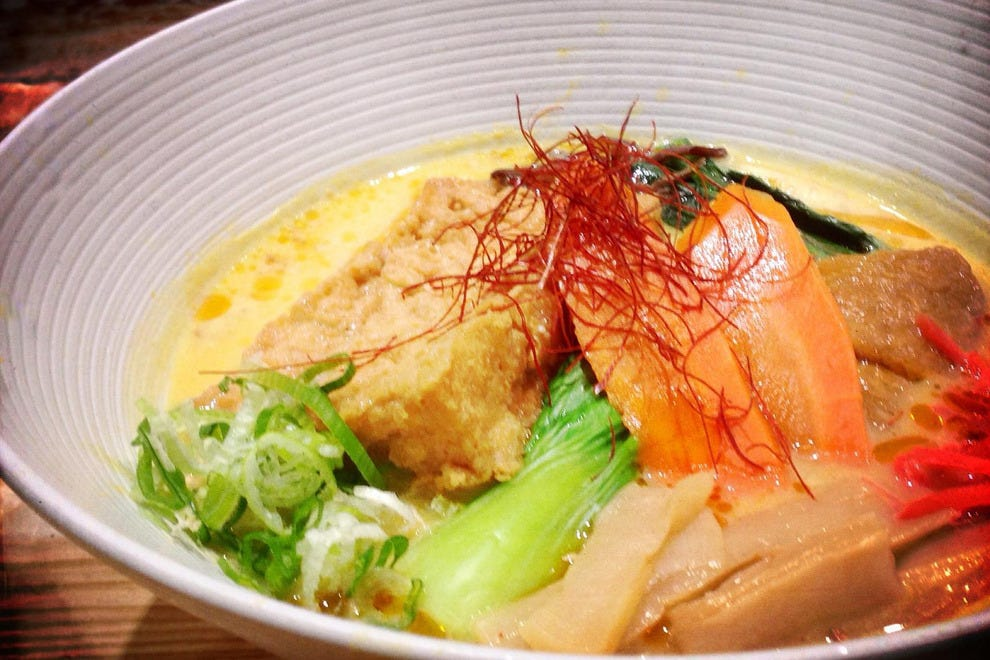 Ramen Air is a fragrant combo of vegetables in a soybean milk broth
