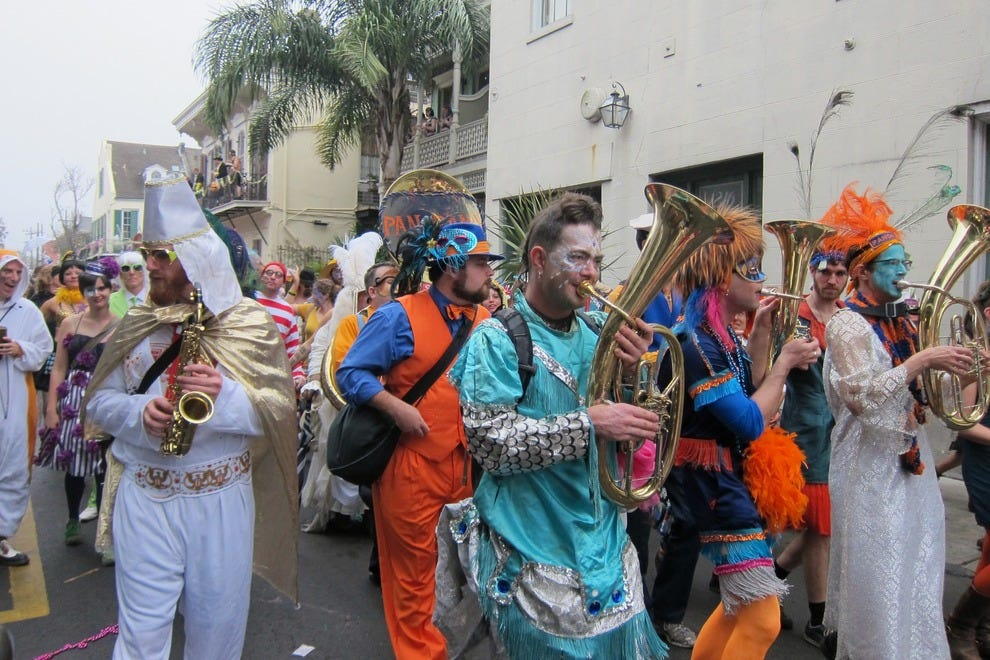 St. Anne marchers on Mardi Gras day