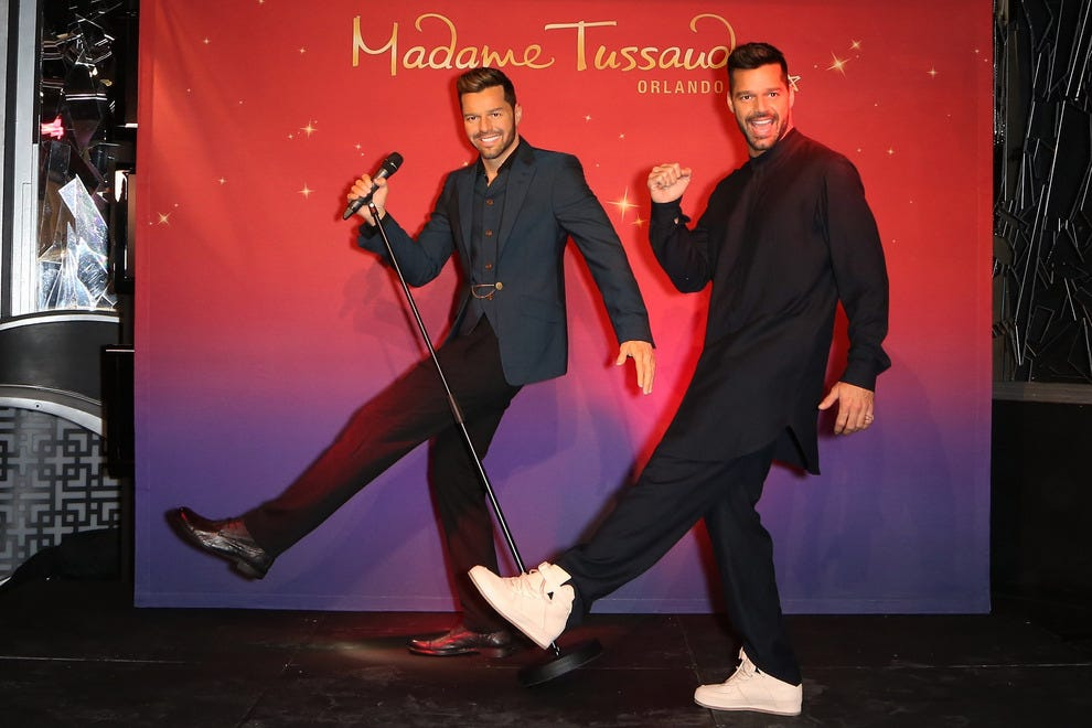 Ricky Martin meets his doppelganger; Orlando visitors can meet him when Madame Tussauds opens this spring.