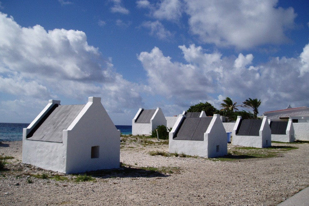 Impossibly small, ancient stone slave huts enshrine a stark chapter of Bonaire history