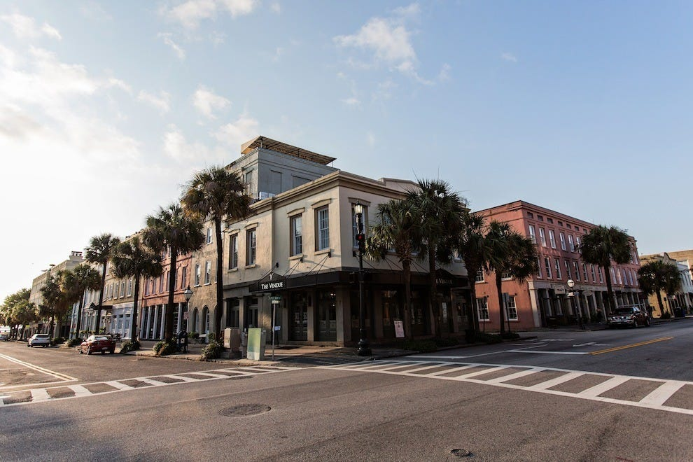This boutique-style property is perfectly situated for easy exploration of Charleston's bustling downtown
