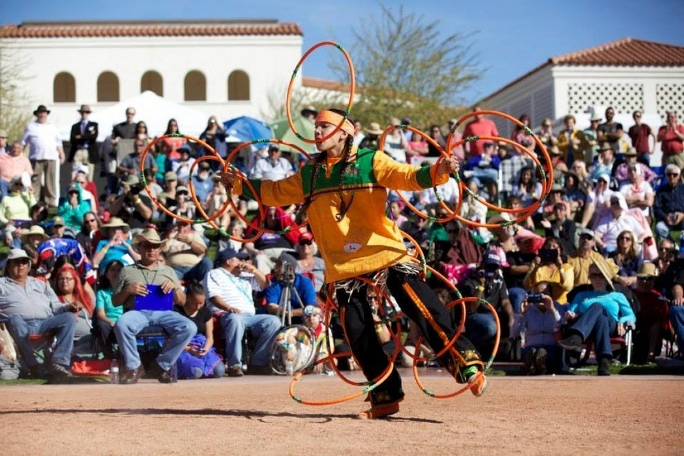 Every February, the Heard Museum in Phoenix hosts the World Championship Hoop Dancing Contest