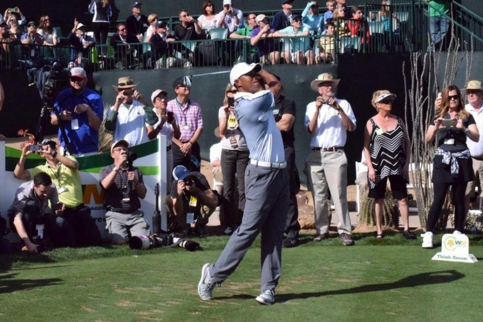 "The Waste Management Phoenix Open, also known as ""the greatest show on grass,"" draws thousands of golf aficionados"