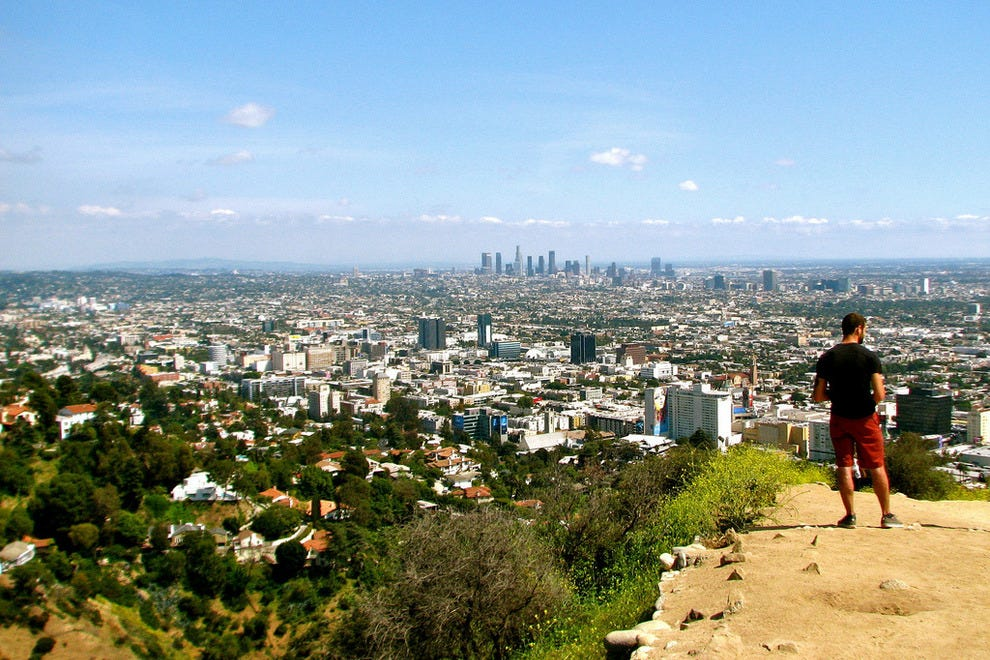 Hiking Runyon Canyon is a popular L.A. activity