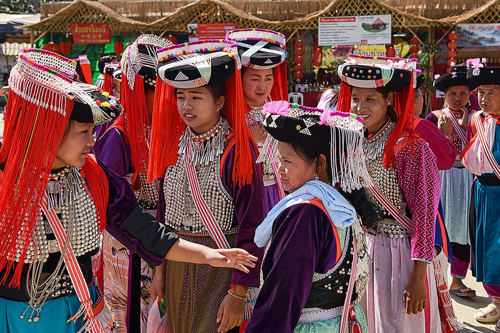 Lisu women in traditional dress