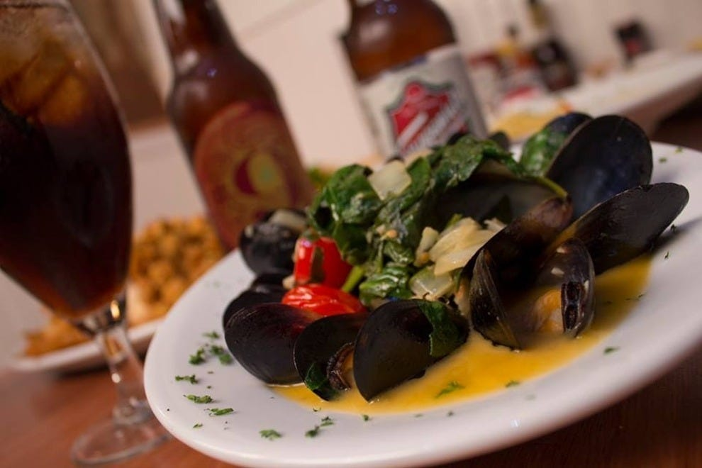 Mussels are among the many great seafood offerings at Chowder Heads