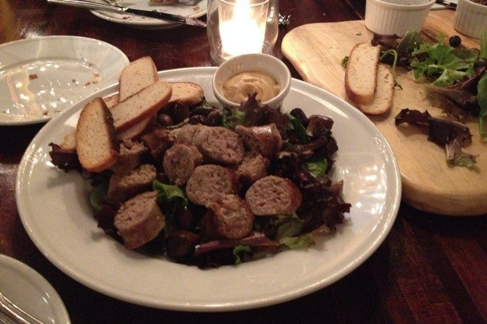 House-crafted sausage is the highlight of Ecco's sausage and cheese plate