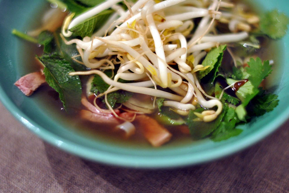 Feast on pho at Chile Rojo