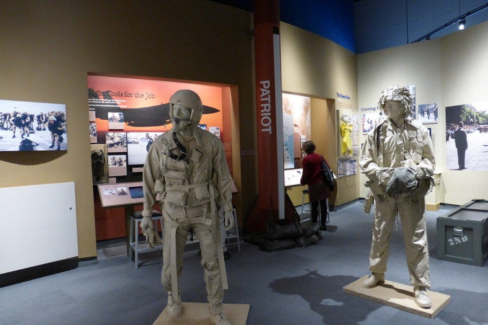 Museum exhibit on Desert Storm and the Gulf War