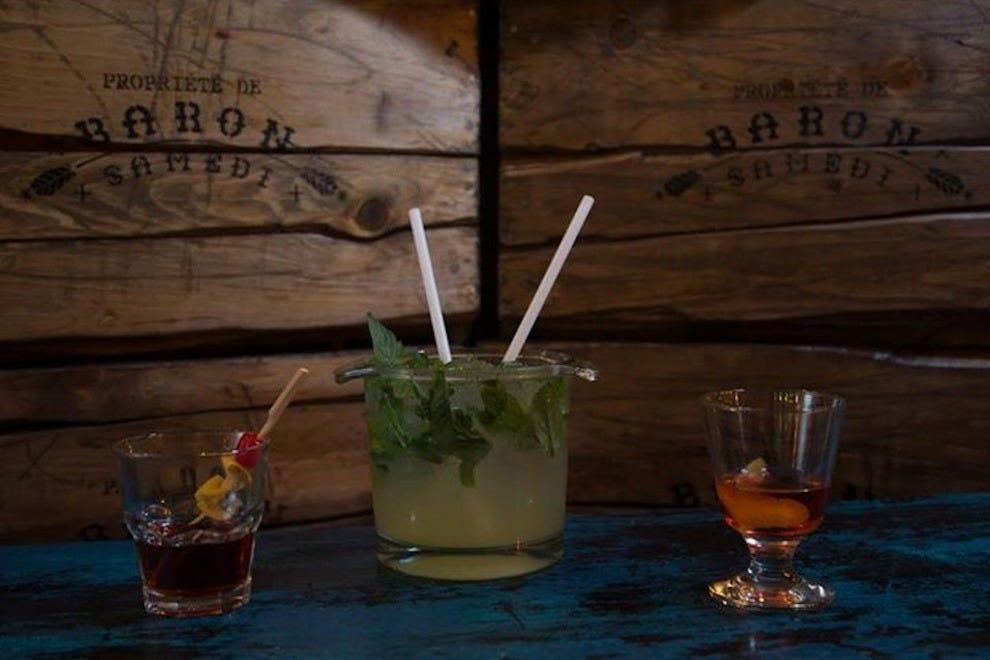 Drinks at Baron Samedi bar in Montreal