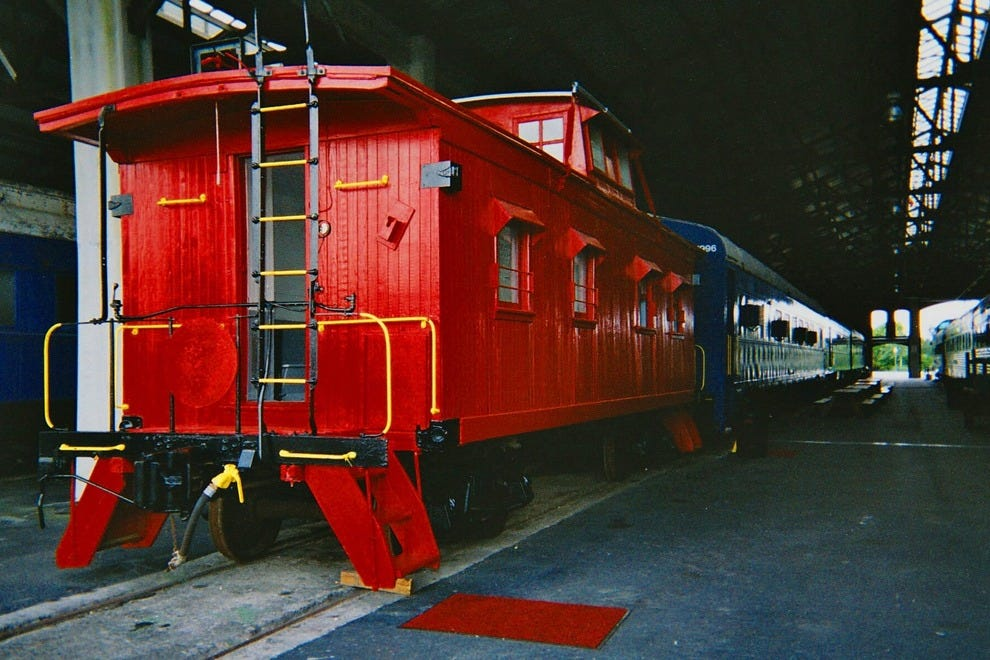Explore the caboose, or check out the model trains while visiting the museum