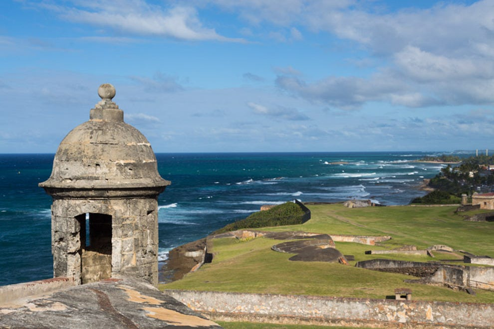 Old San Juan is known for its colonial charm and blue cobblestone streets
