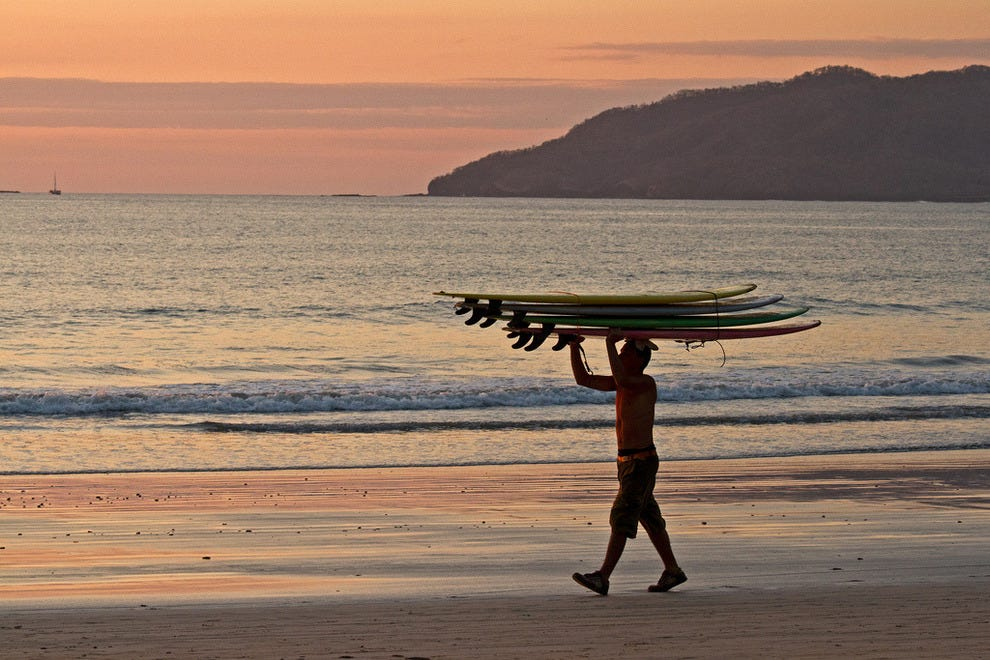 Playa Tamarindo is a surf lover's paradise