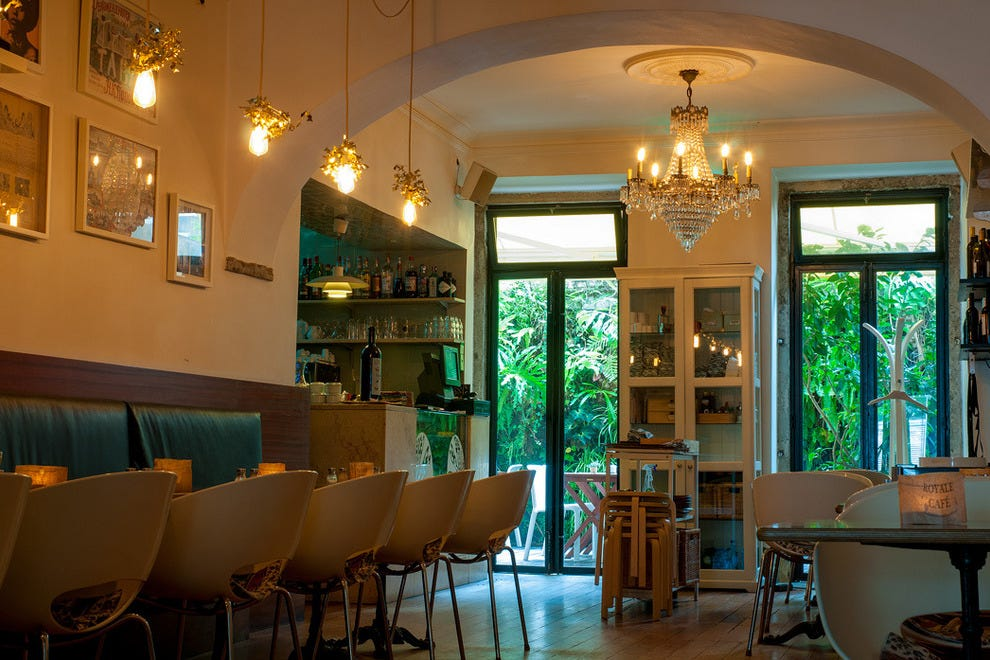 The stylish Royale Café, the interior of which has been designed by the restaurant's owner