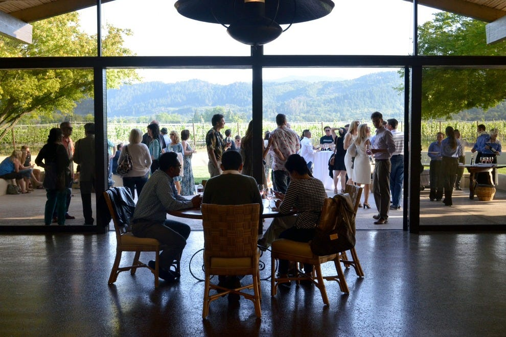 This winery is a Napa Valley anchor and popular with wine tasters