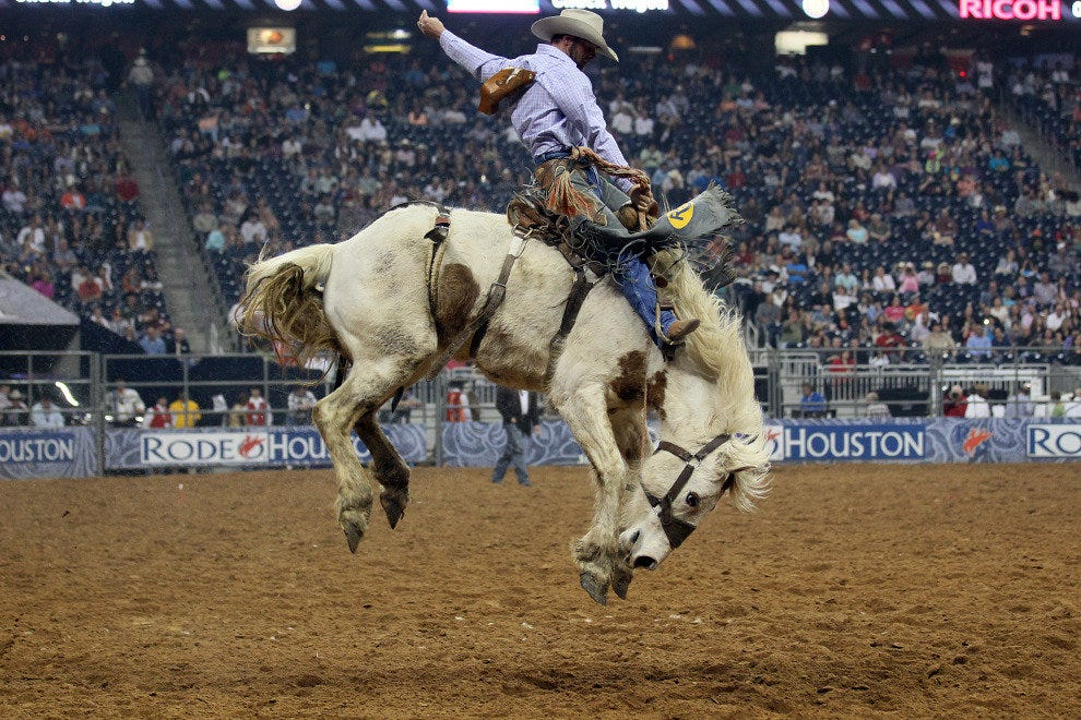 Cowboys come from around the country for their eight seconds of glory and cash prizes.