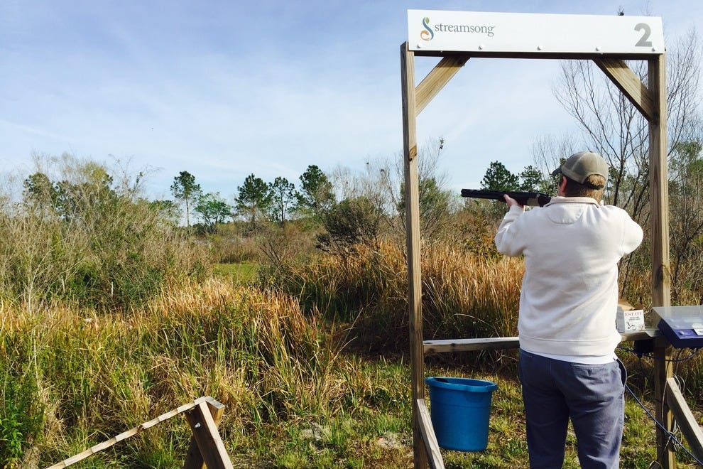 Shooting clays can help take your mind off your golf game, if just for a second