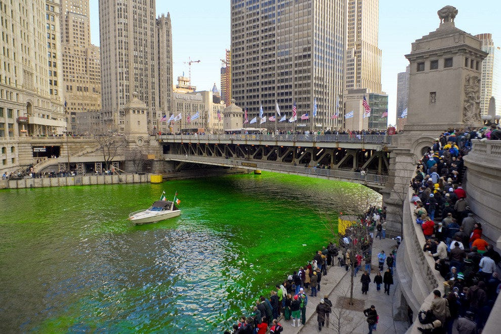 Chicago Dyed Green
