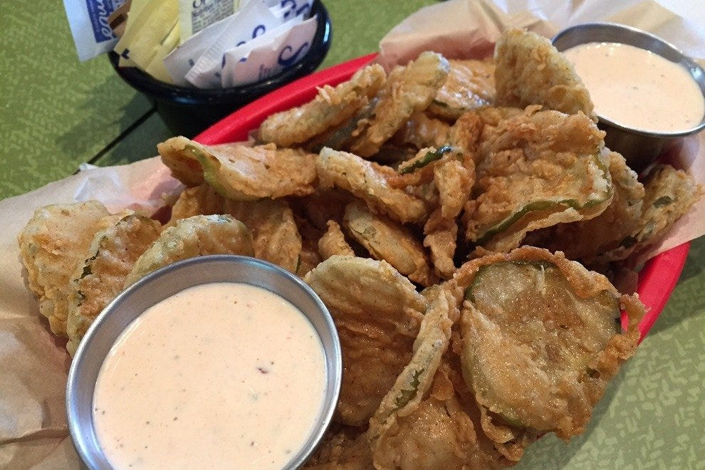 Order the larger size; these are the best fried pickles you'll ever encounter!