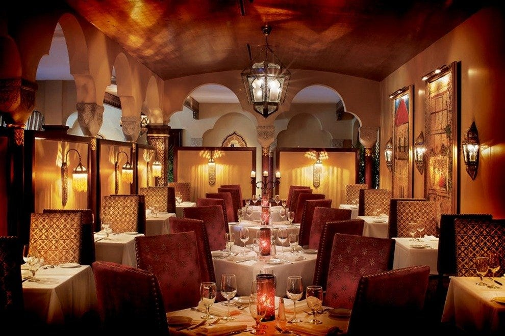 Elegant Moroccan Decor Fine Wine And An Eclectic Mix Of International Cuisines Define The 95 Cordova Restaurant Situated On First Floor