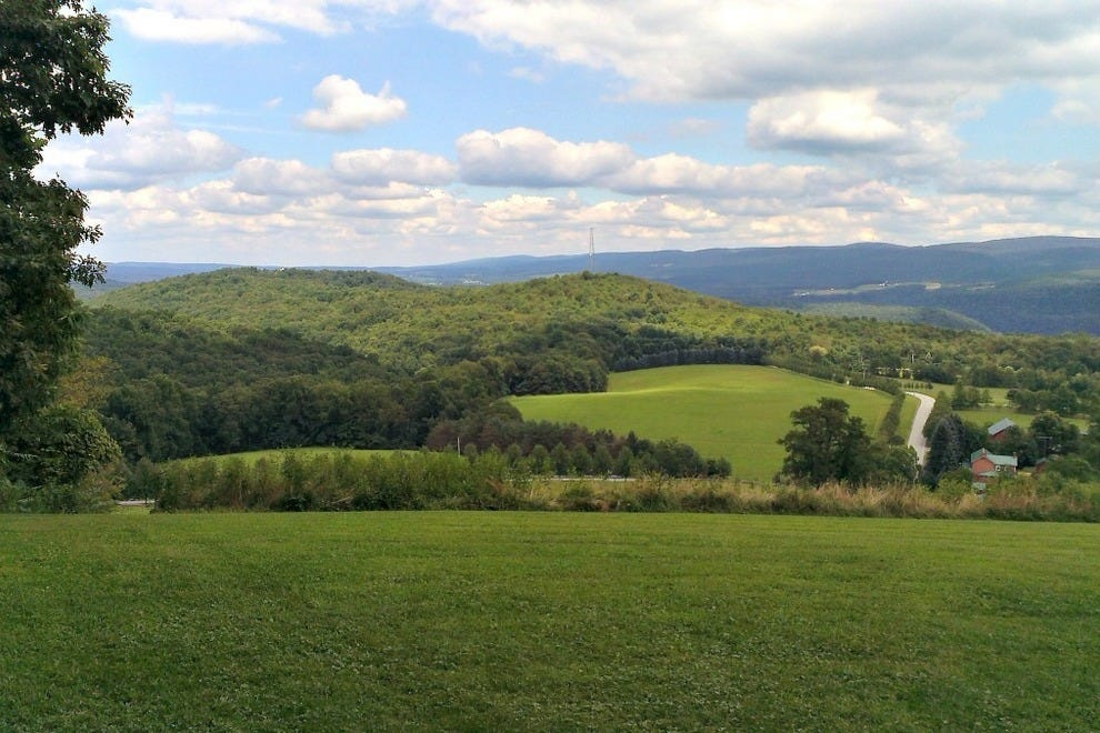 The hills behind Kentuck Knob