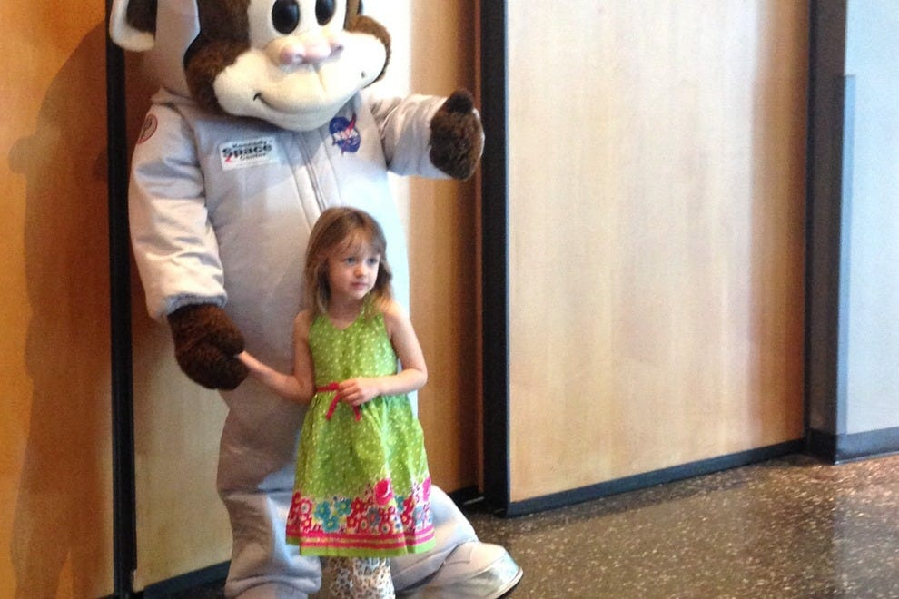 Kids love the space-themed character throughout the Kennedy Space Center