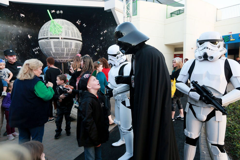 Darth Vader and Stormtroopers in front of the Death Star