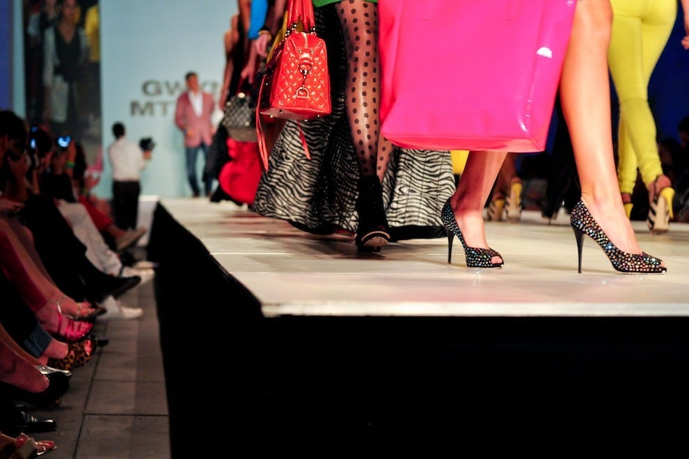 Bright colors, florals and patterns abound, adorned by both models and spectators at the Charleston Fashion Week